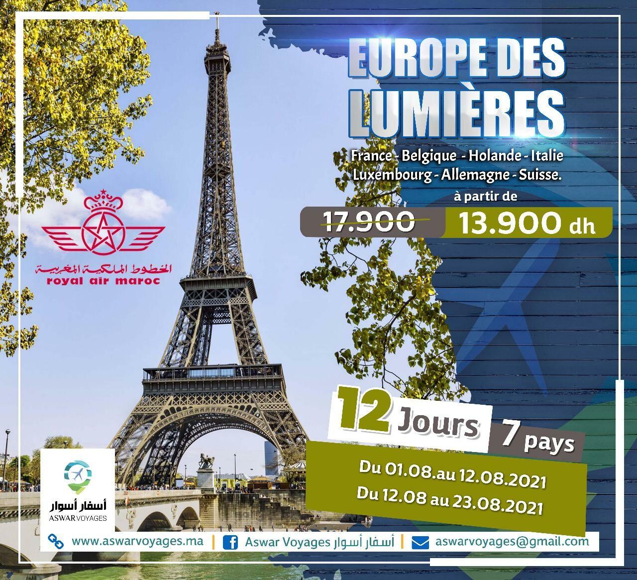 Europe des lumières 12 j